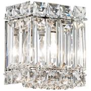 """Schonbek Quantum Collection 5"""" High Crystal Wall Sconce"""