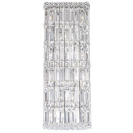 "Schonbek Quantum Spectra Crystal 25"" High Wall Sconce"