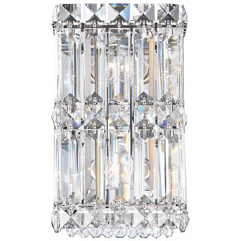 "Schonbek Quantum Collection 9"" High Crystal Wall Sconce"