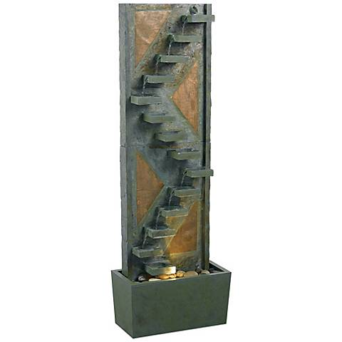 "Kenroy Home Traverse Natural Slate 48""H Fountain with Light"