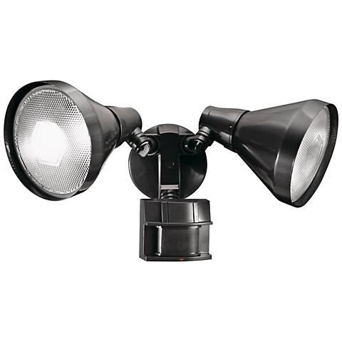 Two Light Bronze 180 Degree Motion Sensor Security Light