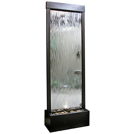 Modern Mirror Panel Fountain with Light
