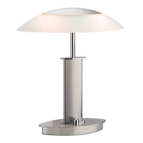 Mini Nickel and Champagne Glass Holtkoetter Desk Lamp