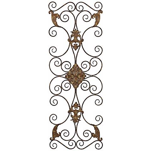 "Uttermost Fayola Hand-Forged Metal 50"" High Wall Decor"