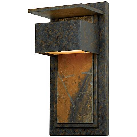 """Zephyr Collection Slate 18"""" High Outdoor Wall Light"""