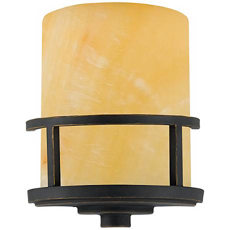 """Kyle Collection Marble Glass 11"""" High Wall Sconce"""