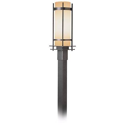 """Hubbardton Forge Double Banded 22 1/4"""" High Post Light"""