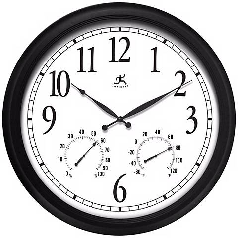 """Definitive 24"""" Wide Weather Station Wall Clock"""