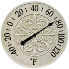 Blanc Fleur Wall Thermometer