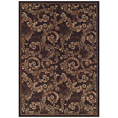 Curled Acanthus Sable Area Rug
