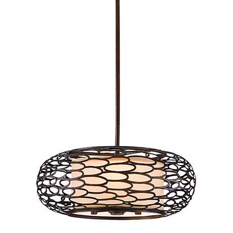 "Cesto Collection Napoli Bronze 18"" Wide Pendant Light"