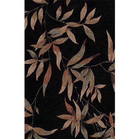 Twilight Garden Black Area Rug