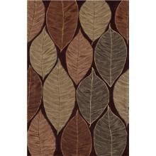 Leaf Trance 8'x10' Chocolate Area Rug