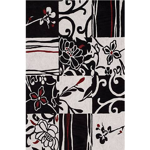 Edgemont Black Multi Area Rug