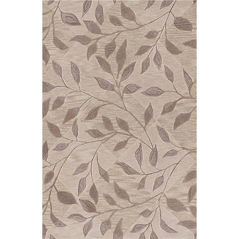 Leaf Texture Ivory Area Rug