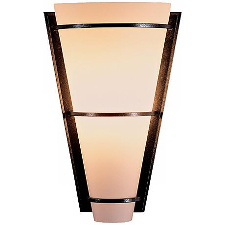 """Suspended Half Cone Opal Glass 10"""" High Wall Sconce"""