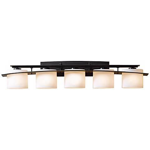 Hubbardton forge stone glass 42 wide bath light j6405 lamps plus for Hubbardton forge bathroom lighting
