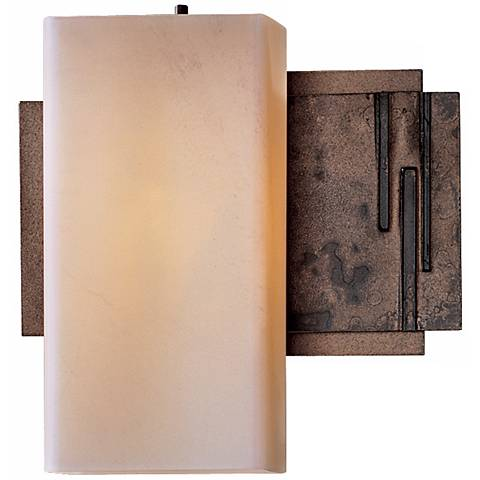 "Impressions Collection Stone Glass 8 1/2"" High Wall Sconce"