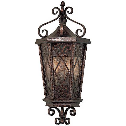"Felicity Collection 21 3/4"" High Outdoor Pocket Wall Lantern"