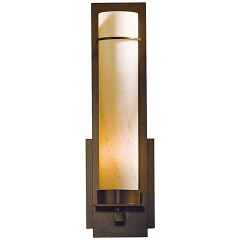 New Town Collection Stone Glass Energy Efficient Wall Sconce