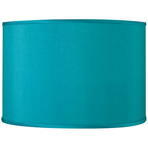 Teal Blue Faux Silk Shade 12x12x8.5 (Spider)