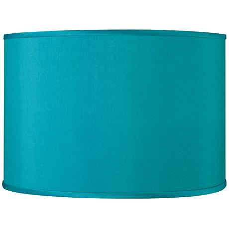 Teal Blue Faux Silk Shade 12x12x8.5 (Spider)