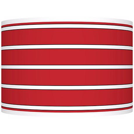 Bold Red Stripe Giclee Shade 12x12x8.5 (Spider)