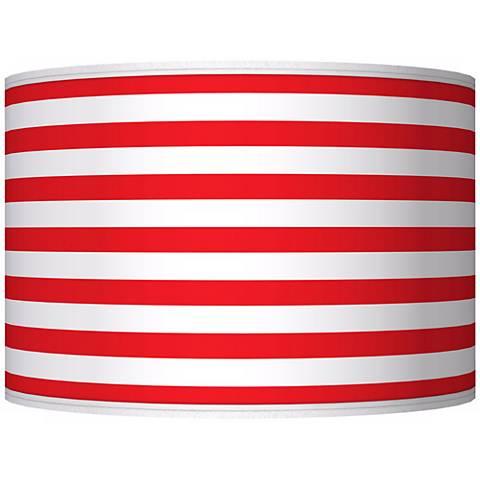 Red Horizontal Stripe Giclee Shade 12x12x8.5 (Spider)