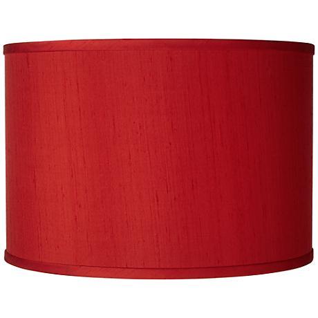 China Red Silk Dupioni Shade 12x12x8.5 (Spider)