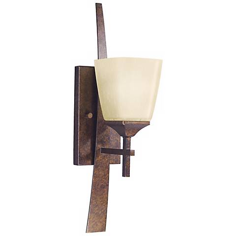 "Marbled Bronze Finish 20 1/2"" High Bath Sconce"