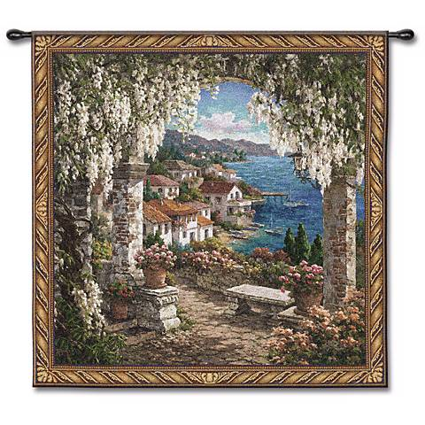 "Tuscan Grotto Woven 53"" Square Wall Tapestry"