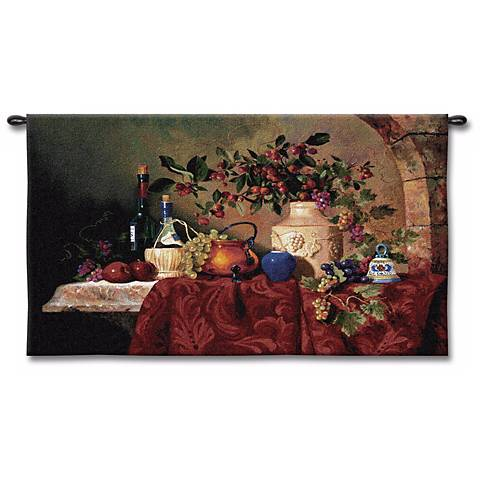 """Caprician Feast 53"""" Wide Wall Tapestry"""