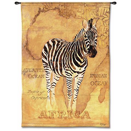 "Zebra Safari 53"" High Wall Tapestry"