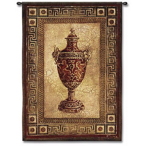 "Grecian Urn 53"" High Wall Tapestry"