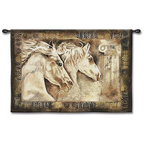 "Wild Horses 53"" Wide Wall Tapestry"