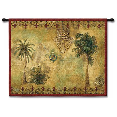 """Regal Palms 53"""" Wide Wall Tapestry"""