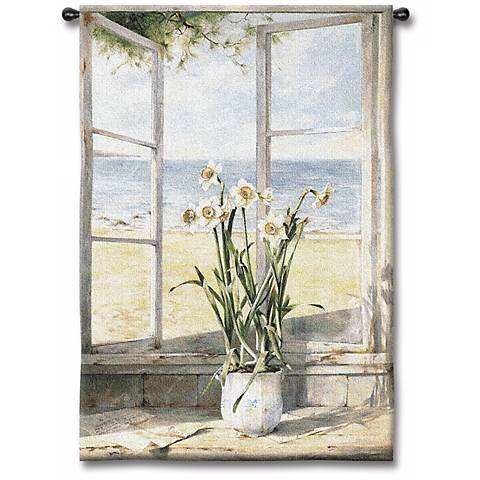 "Sea Breeze Narcissus 53"" High Wall Tapestry"