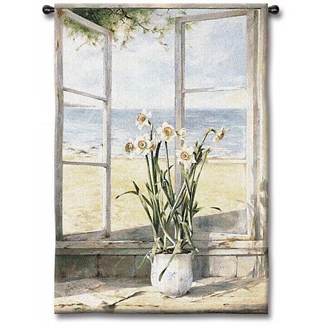 """Sea Breeze Narcissus 53"""" High Wall Tapestry"""