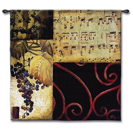 "Harvest Waltz 53"" Square Wall Tapestry"