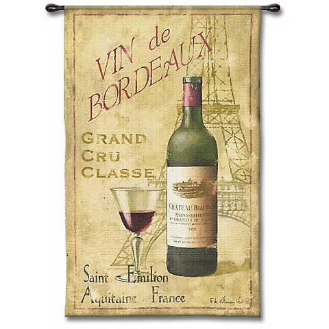 """Vin de Bordeaux 53"""" High Wall Tapestry"""