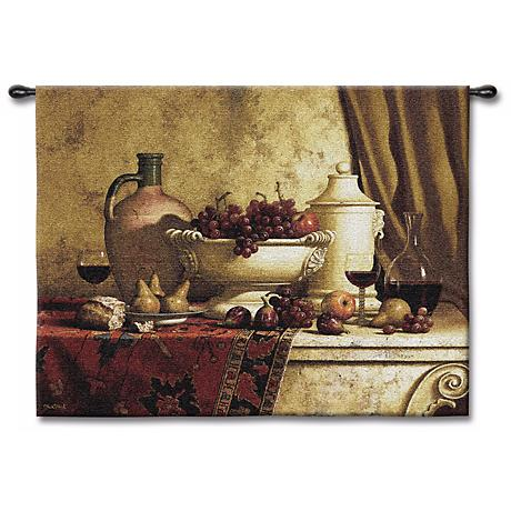 """The Great Feast Large 66"""" Wide Wall Tapestry"""