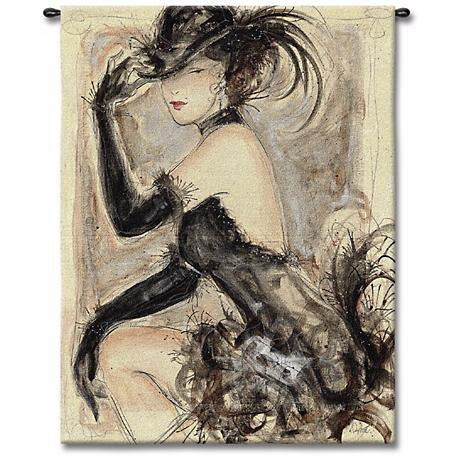 """Lady Caberet 53"""" High Wall Tapestry"""