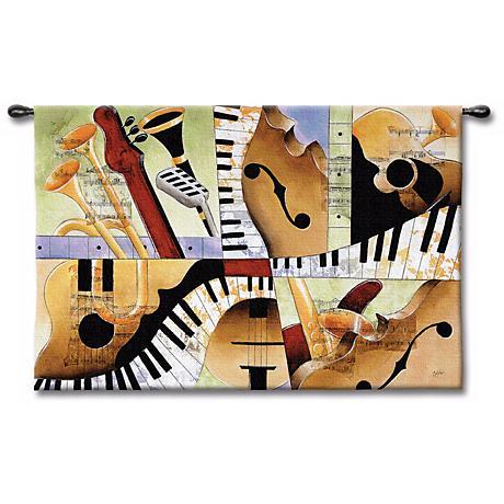 """Hot Jazz 52"""" Wide Wall Art"""