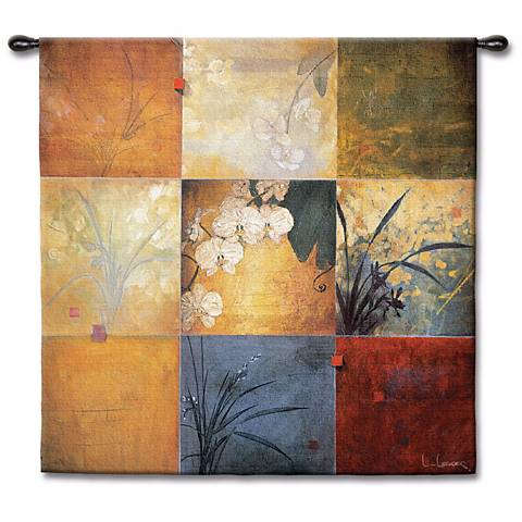 "Orchid Patchwork Small 35"" Square Wall Tapestry"