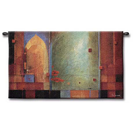 """Archways and Abstracts 53"""" Wide Wall Tapestry"""