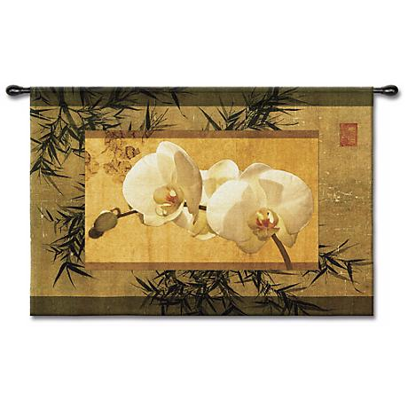 """The Bamboo Orchid I 39"""" Wide Wall Tapestry"""