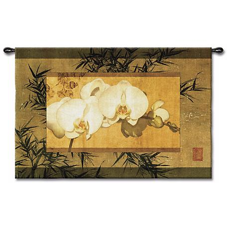 """The Bamboo Orchid II 39"""" Wide Wall Tapestry"""