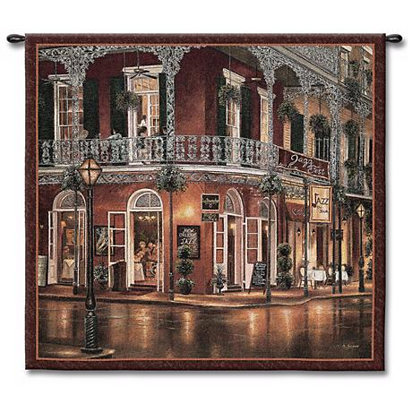 """All That Jazz 53"""" Square Wall Tapestry"""