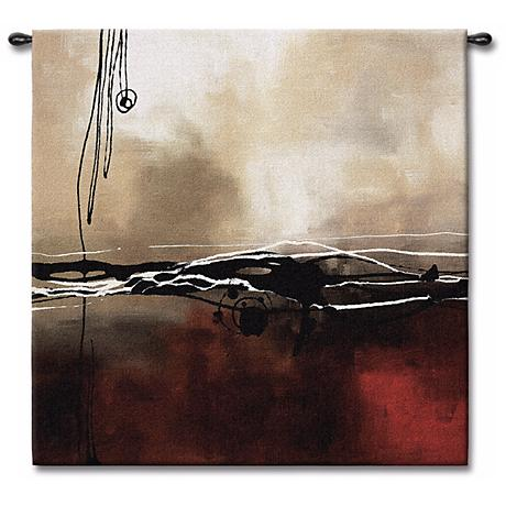 """Dreams in Claret and Black Small I 35"""" Square Wall Tapestry"""