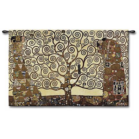"The Tree of Life 53"" Wide Wall Tapestry"